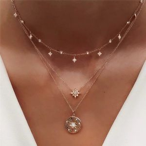 Just In🎉Boho Multilayer Crystal Star  Necklace